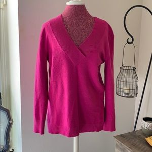 Anthropology bright pink sweater